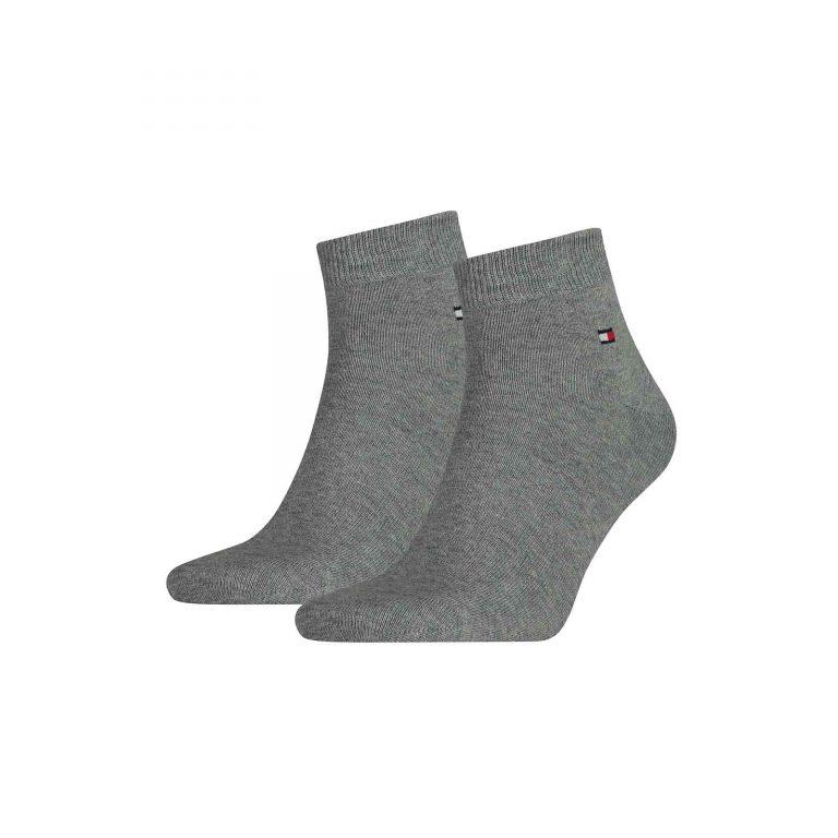 Tommy Hilfiger 2-pack Medium Lengte Sok Grijs