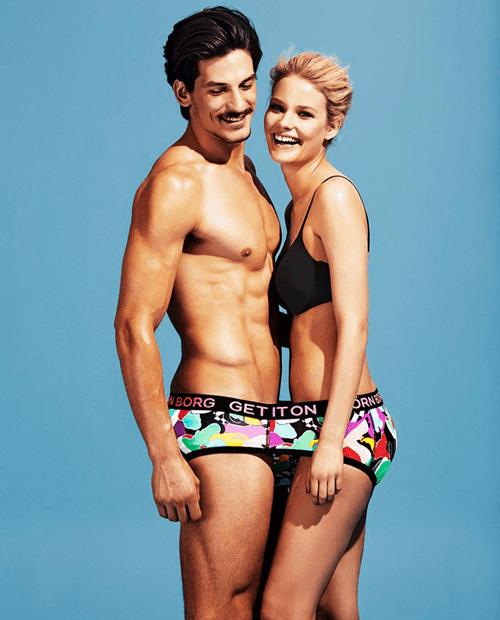 Webshop man en vrouw samen in ondergoed