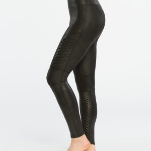Spanx Faux Leatherlook Shaping Moto-legging Black