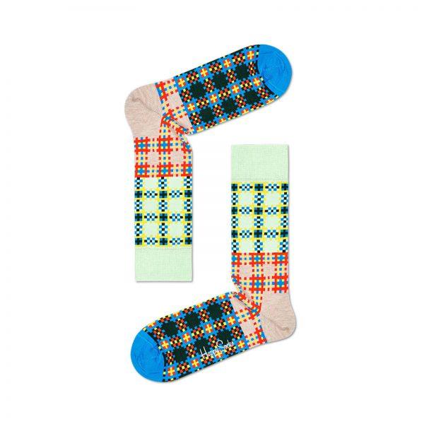 Happy Socks Tartan Square Sock