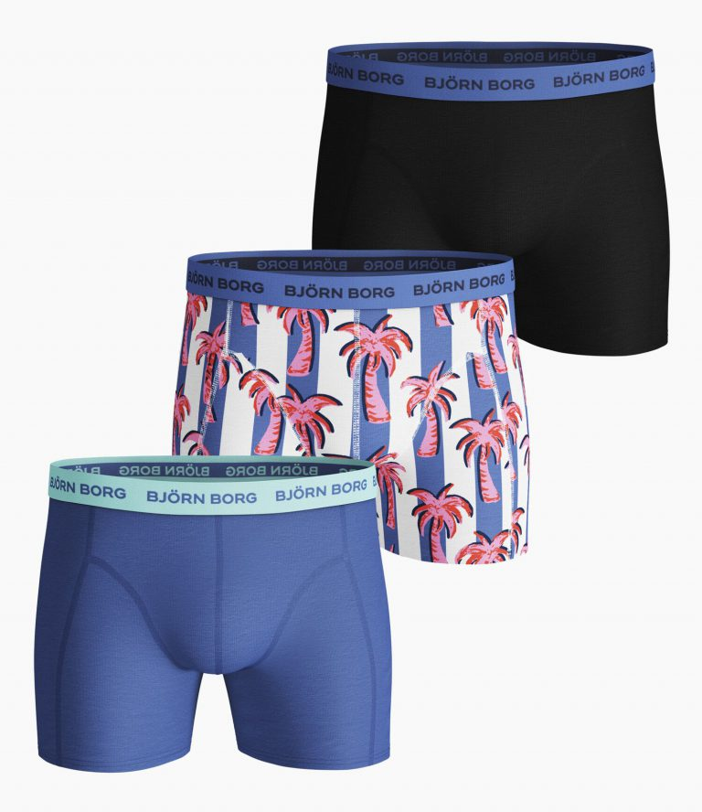 Bjorn Borg essentials 3-pack shorts Palmstripe
