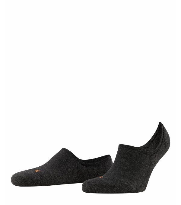 Falke Keep Warm Invisible Sneakersock for men Anthracite