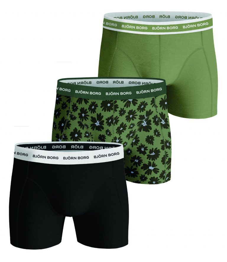 Björn Borg essentials 3-pack shorts 2121-1022 groen